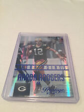 2015 Panini Prestige Football Aaron Rodgers Green Bay Packers Xtra Points Blue