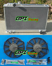 Aluminum radiator +Fans for Toyota Supra Soarer MK3 7M-GTE 1986-1992,3000CC MZ20