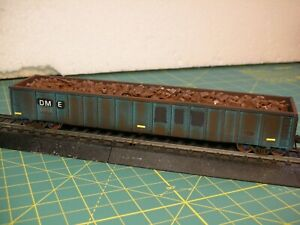 EXACTRAIL HO SCALE 2743 GONDOLA HOPPER DME EX-OSM SCRAP LOAD WEATHERED NEW