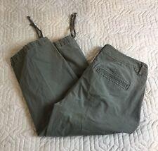 Dockers Green Capri pants Casual Cotton Spandex Hem Cinch Women Size 6