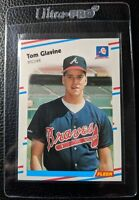 1988 FLEER #539 TOM GLAVINE ROOKIE CARD RC HOF ATLANTA BRAVES MINT
