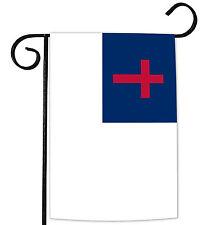 NEW Toland - Christian - Religion Red Cross Blue White Jesus Christ Garden Flag