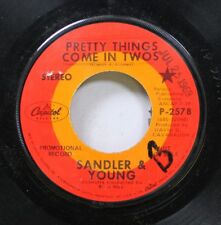 Rock Promo 45 Sandler & Young - Pretty Things Come In Two / Heather On Capitol