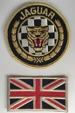 BRODERIE JAGUAR RONDE & UNION JACK ECUSSON BADGE