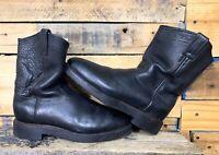 Chippewa Wellington Pull-on Black Boots Vibram Soles USA Made Size 10 D US