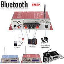 Mini Auto Car Motorcycle Home Bluetooth FM Hi-Fi Stereo Audio Amplifier AMP 12V