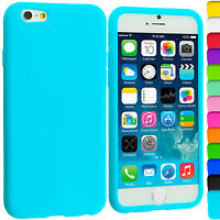 Silicone Gel Rubber Back Case Cover for Apple iPhone 4 4s 5 5s 6 (4.7), 6 Plus