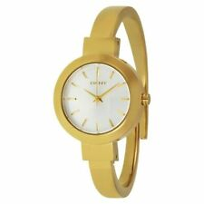 DKNY NY2350 STANHOPE  GOLD TONE LADIES BANGLE WATCH 2 YRS WARRANTY
