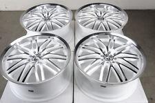 18 4x100 4x114.3 Rims White 4 Lug Fits Protege Cobalt Elantra Civic Wheels