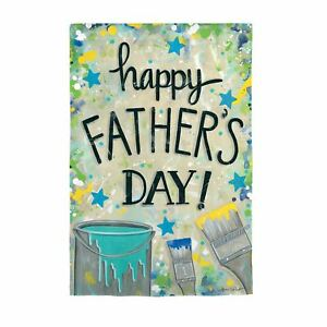 "Happy Father's Day Dropcloth 14S9773 Suede Garden Flag 12.5"" x 18"""