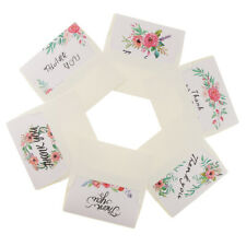 6 Pack Thank You Cards Floral Flower with Envelopes Invitation Cards Gift