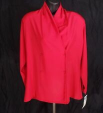 NWT Red Pendleton Blouse Shirt Button Women's Size 6 Six Office Professional Top
