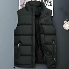Mens Winter Down Cotton Vest Outwear Warm Sleeveless Jacket Waistcoats Plus Size