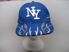 New York Baseball Cap NY New York Blue Wool Blend Hat Adjustable