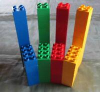 Lego Duplo 60 Steine 8er 4er Noppen Bausteine grün rot gelb blau kg Duplosteine