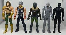 "Lot OF 5 Titan Hero Series 12"" Figures Marvel Avengers DC Comics"