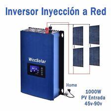 Kit 1000w Auntoconsumo vertido cero con 4 placas solares Inyeccion a Red