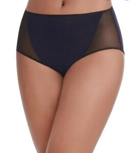 NEW VANITY FAIR Light Airy BREATHABLE LUXE HIPSTER PANTY Black #18180 NWT 8/XL