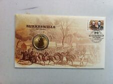 2010  $1.00  UNC COIN ON F D C, Theme: BURKE AND WILLS 150 YEARS
