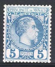 "MONACO STAMP TIMBRE 3 "" PRINCE CHARLES III 5c BLEUE 1885 "" NEUF xx TTB  M666"