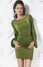 NWT JOVANI BACKLESS COCKTAIL DRESS OLIVE  Size 4 $400