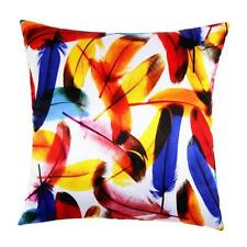 Colorful Feather Printing Cushion Cover Case Home Decor Sofa Throw Pillow