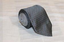 SAMUELSOHN Gray Check Classic Woven 100% Silk Tie
