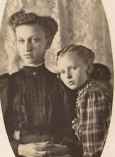 Vintage Postcard Real Photo  Mother and Daughter  hairstyle Lenar Bessie West