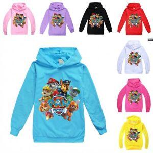 PAW PATROL Cartoons Kids Hoodie Long Sleeve Boys Girls Hooded Pullover Tops UK