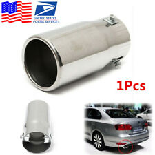 1Pcs Chrome Stainless Steel Round Car Exhaust Tail Pipe Tip Muffler -USA Stock