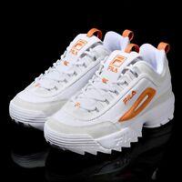 FILA Disruptor II 2 Point Orange White Shoes Unisex Size UK 3-9 FS1HTA3082X_WOG