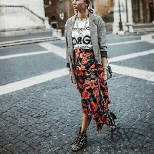 Zara Printed Flowing Midi Skirt Size XSMALL & SMALL BNWT
