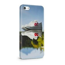 Canvas Sneakers Mirrored Shiny Surface 3D iPhone 5 5s 6 6s 7 8 X XS case a319g