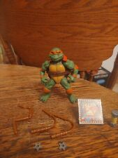 TMNT 1992 MOVIE STAR MIKE 100% COMPLETE! (BROWN & SILVER WEAPON VARIANT)