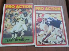New listing VINTAGE EARLY 1970's TERRY BRADSHAW & BUBBA SMITH PRO ACTION FOOTBALL CARDS
