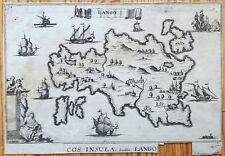 Peeters Original Engraving Cos Insula Lango Greece - 1695