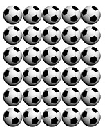 """Football - 30 x 1.5"""" / 4CM Rice Paper Cake Toppers - FREE P&P"""