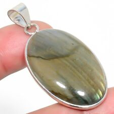 "Labradorite Gemstone Ethnic Silver Fashion Jewelry Pendant 1.93"" SP-2674"
