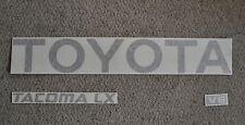 TOYOTA TACOMA TRUCK TAILGATE LOGOS DECAL 95-99 MATTE FLAT  BLACK pickup  V6