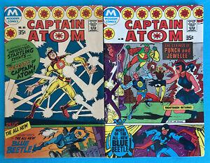 1977 Modern Comics Captain Atom #83 (1st Blue Beetle) & 85 Punch Jewelee VG