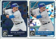 MITCH HANIGER - 2 pc. 2017 Optic Rated Rookie HOLO & Base - Mariners RC