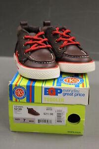 TKS Dennis 52140 Toddler Shoes, Brown, Size: 7 M, New!