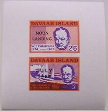 Davaar Island - Block Sir Winston Churchill overprint Moonlanding July 1969 MNH