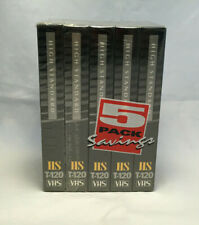 5 Pack High Standard HS T-120 Radio Shack VHS Tapes - New & Sealed