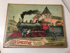 Rare Antique Mcloughlin Brothers Locomotive Picture Puzzle Box Only