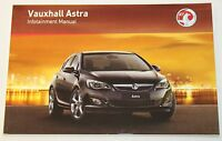 GENUINE VAUXHALL ASTRA J INFOTAINMENT SYSTEM AUDIO CD SAT NAV NAVIGATION MANUAL