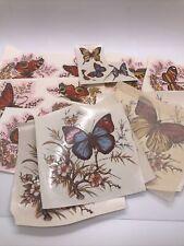 Vintage Lot of Cerami Corner Ceramic Decals Transfers Butterflies New Open #3