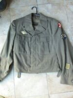 Excellent 1944 WW2 Corporal, Olive Drab EISENHOWER JACKET, w/PATCHES, Wool, 38L
