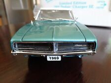 1969 DODGE CHARGER SE BRIGHT TURQUOISE LIMITED EDITION DANBURY MINT 1/24