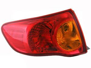 LHS Tail Light suits Toyota Corolla 07-09 ZRE152 Sedan 4 door